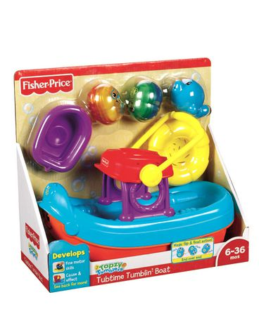 Fisher-Price Topzy Tumblers Tubtime Tumblin Boat Fisher Price W9850 Baby Products