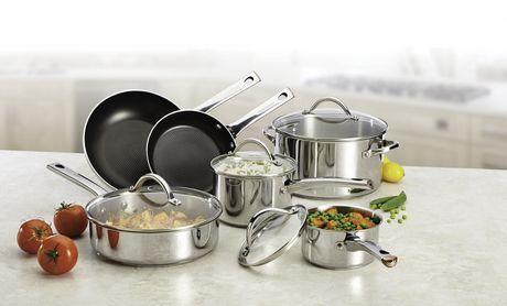 Batterie de cuisine farberware en acier inoxydable - Batterie de cuisine en acier inoxydable ...