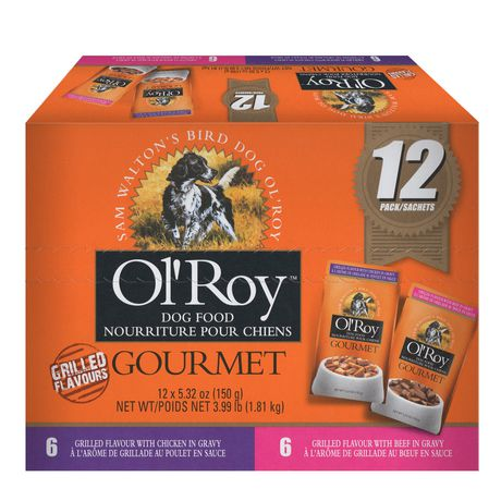 Ol' Roy Ol'Roy Gourmet Dog Food - Grilled Chicken And Beef Variety Pack, 12x150 G - image 1 of 1