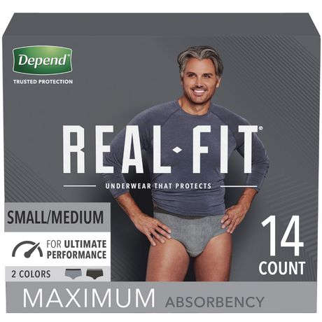Depend Real Fit Incontinence Underwear for Men, Maximum Absorbency - image 1 of 7