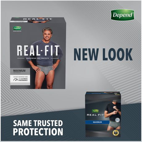 Depend Real Fit Incontinence Underwear for Men, Maximum Absorbency - image 2 of 7