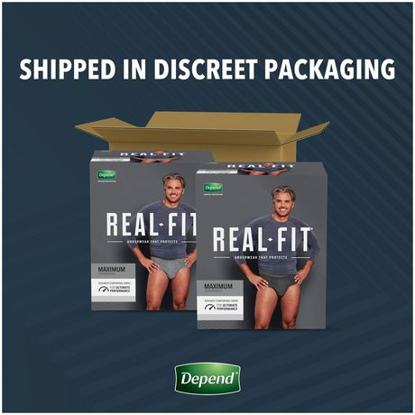 Depend Real Fit Incontinence Underwear for Men, Maximum Absorbency - image 7 of 7