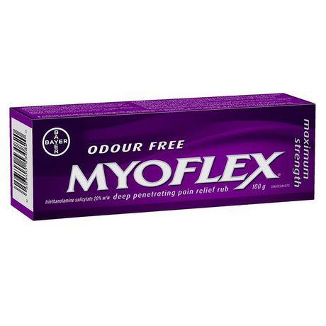 bayer healthcare consumer care myoflex maximum strength odour free pain relief rub cream. Black Bedroom Furniture Sets. Home Design Ideas