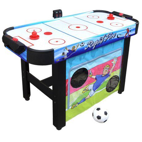 Table D Air Hockey Multi Jeux 3 En 1 Rapid Fire De Hathaway De 1