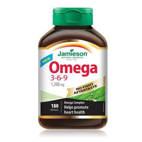 jamieson omega 3  Jamieson Laboratories Jamieson Omega 3-6-9 No Fishy Aftertaste 1,200 ...