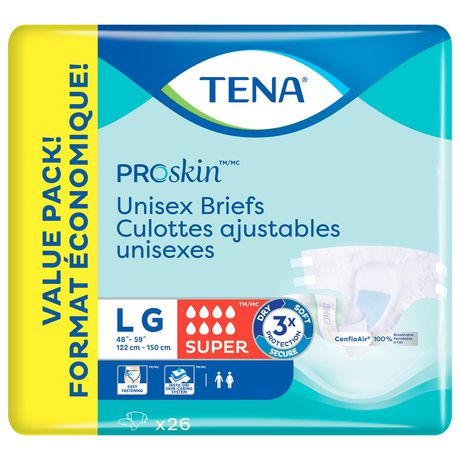 TENA Incontinence Briefs, Super Absorbency,  Large, 26 Count - image 2 of 3