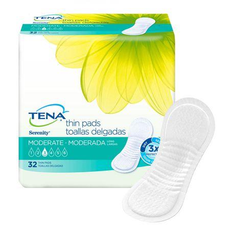 TENA Serviettes minces contre l'incontinence féminine - Absorption moyenne - Longues - 32 unités - image 3 de 4