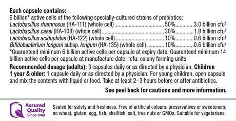 Webber Naturals Acidophilus Bifidus avec FOS, 6 billion de cellules actives - image 2 de 4