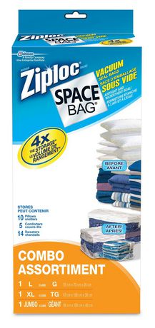 Ziploc 174 Brand Space Bag 174 Combo Vacuum Bags Walmart Canada