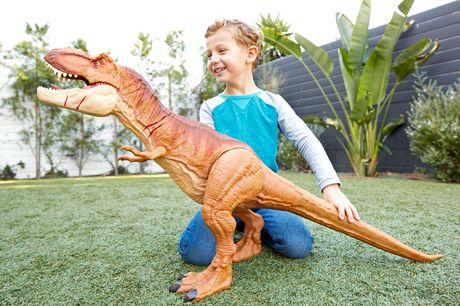 Jurassic World Battle Damage Roarin' Super Colossal Tyrannosaurus Rex Figure - image 8 of 9