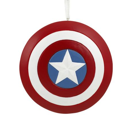 hallmark marvel avengers captain america shield christmas tree ornament