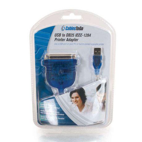 C2G 6ft USB câble d'adaptateur imprimante parallèle DB25 - image 4 de 4