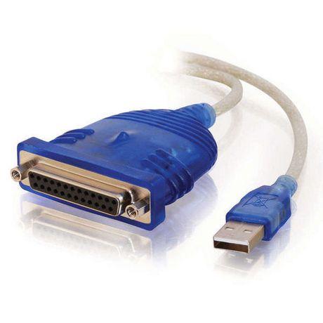C2G 6ft USB câble d'adaptateur imprimante parallèle DB25 - image 1 de 4