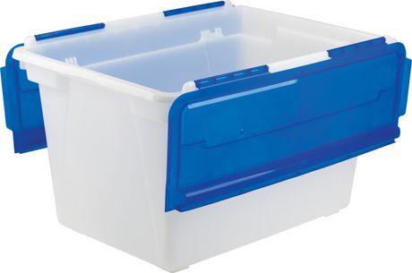 Storex Bac rangement des Documents avec couvercle rabattable (4 unités/paquet) - image 1 de 4