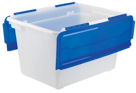 Storex Bac rangement des Documents avec couvercle rabattable (4 unités/paquet) - image 3 de 4