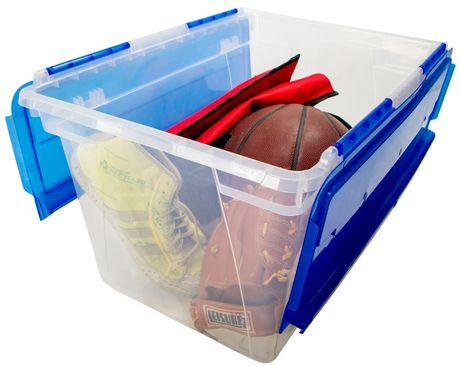 Storex Bac rangement des Documents avec couvercle rabattable (4 unités/paquet) - image 2 de 4