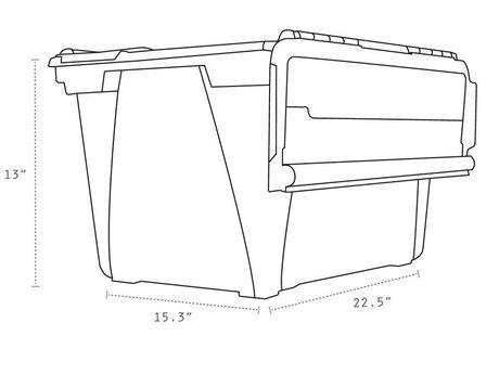 Storex Bac rangement des Documents avec couvercle rabattable (4 unités/paquet) - image 4 de 4