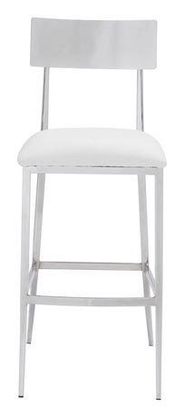 Zuo Modern Mach White Bar Chair Walmart Ca