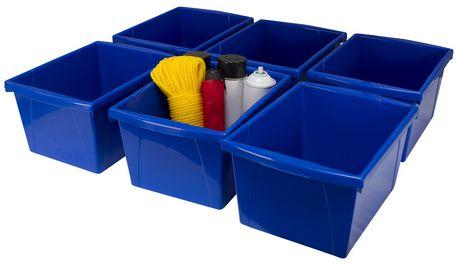 Storex 4 Gallon &15Litres Bac d'entreposage /Bleu (6 unités /paquet) - image 2 de 7
