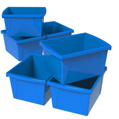 Storex 4 Gallon &15Litres Bac d'entreposage /Bleu (6 unités /paquet) - image 1 de 7