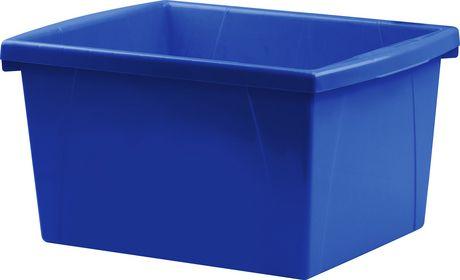 Storex 4 Gallon &15Litres Bac d'entreposage /Bleu (6 unités /paquet) - image 3 de 7