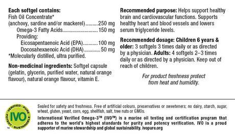 Webber Naturals® Oméga-3 pour enfants 150 mg AEP/ADH, 120 gélules - image 2 de 4