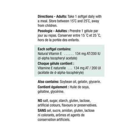 Jamieson Vitamin E 200 UI/134 mg AT