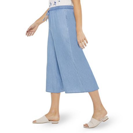 George Women's Wide Leg Denim Culottes - image 2 of 6