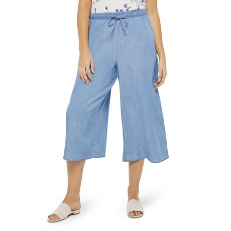 George Women's Wide Leg Denim Culottes - image 1 of 6