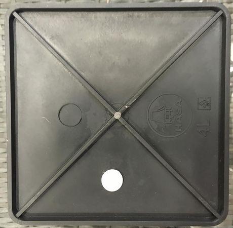 Grapevine Premier Square Resin Wicker Neutral Grey  Planters - image 4 of 5
