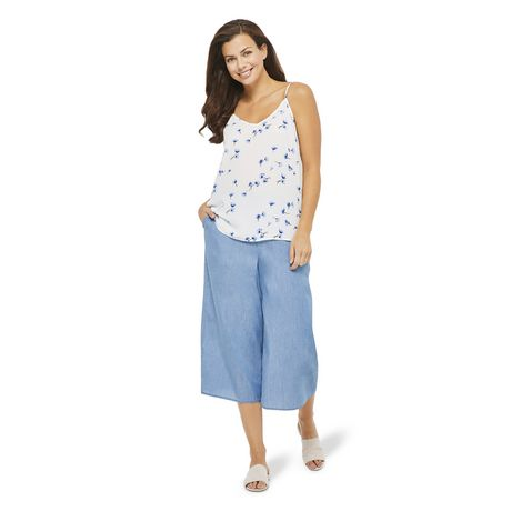 George Women's Wide Leg Denim Culottes - image 5 of 6
