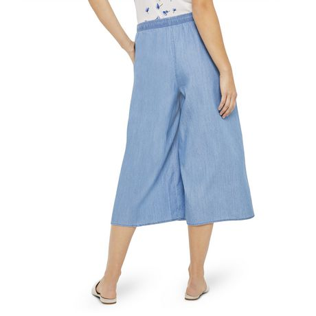 George Women's Wide Leg Denim Culottes - image 3 of 6