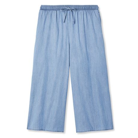 George Women's Wide Leg Denim Culottes - image 6 of 6