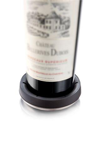 Vacu Vin Black with Stainless Steel Base Bottle Coaster - image 2 of 3