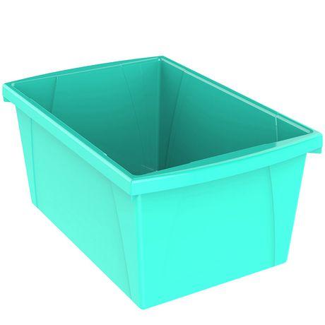 Storex  5.5 Gallon & 21Litres Bac d'entreposage /Turquoise (6 unités /paquet) - image 2 de 3