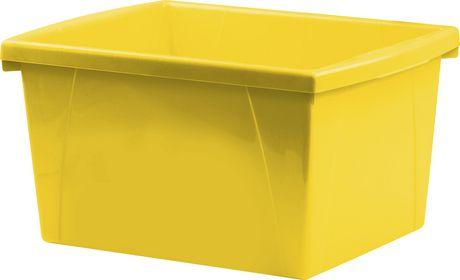 Storex 4 Gallon &15Litres Bac d'entreposage /Jaune (6 unités /paquet) - image 2 de 7