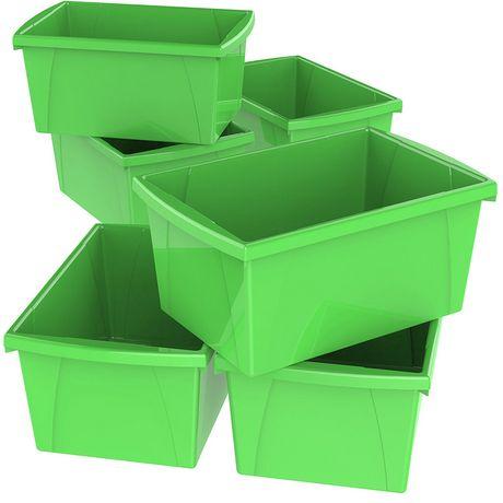 Storex 5.5 Gallon & 21Litres Bac d'entreposage /Vert (6 unités /paquet) - image 1 de 9