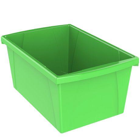 Storex 5.5 Gallon & 21Litres Bac d'entreposage /Vert (6 unités /paquet) - image 4 de 9