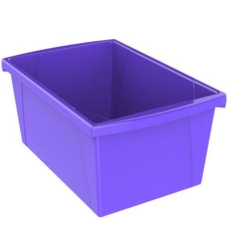 Storex 5.5 Gallon & 21Litres Bac d'entreposage /Violet (6 unités/paquet) - image 4 de 9