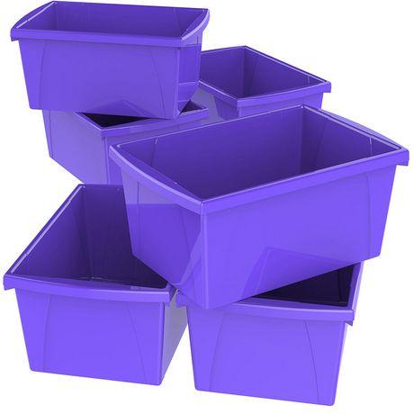 Storex 5.5 Gallon & 21Litres Bac d'entreposage /Violet (6 unités/paquet) - image 1 de 9