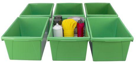 Storex 5.5 Gallon & 21Litres Bac d'entreposage /Vert (6 unités /paquet) - image 3 de 9