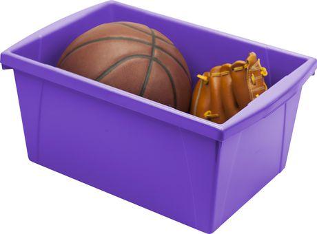 Storex 5.5 Gallon & 21Litres Bac d'entreposage /Violet (6 unités/paquet) - image 2 de 9