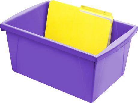 Storex 5.5 Gallon & 21Litres Bac d'entreposage /Violet (6 unités/paquet) - image 5 de 9