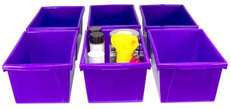 Storex 5.5 Gallon & 21Litres Bac d'entreposage /Violet (6 unités/paquet) - image 3 de 9
