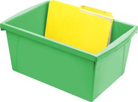 Storex 5.5 Gallon & 21Litres Bac d'entreposage /Vert (6 unités /paquet) - image 5 de 9