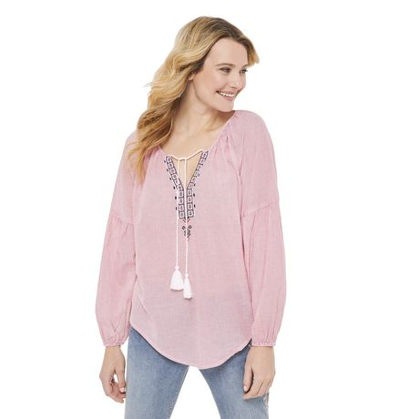 George Women's Peasant Blouse - image 1 of 6