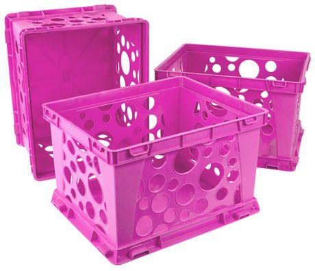 Storex Grand Caisse de Rangement Rose (ensemble de 3) - image 1 de 2