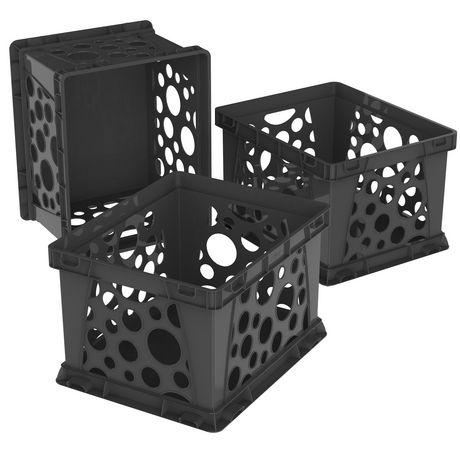 Storex Mini Crate Black Case Of 3 Walmart Canada