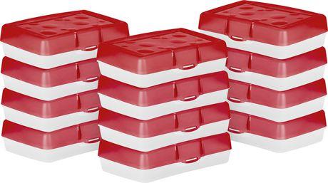 Storex Boîte à crayons/ rouge (12 unités/paquet) - image 1 de 2