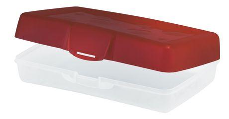 Storex Boîte à crayons/ rouge (12 unités/paquet) - image 2 de 2